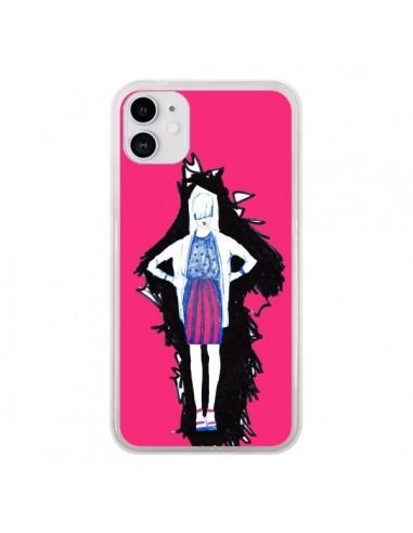 Coque iPhone 11 Lola Femme Fashion Mode Rose - Cécile