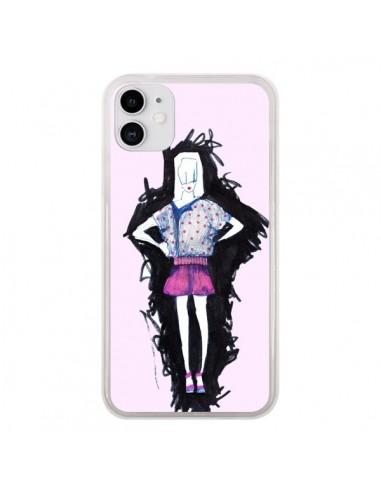 Coque iPhone 11 Valentine Femme Fashion Mode Rose Clair - Cécile