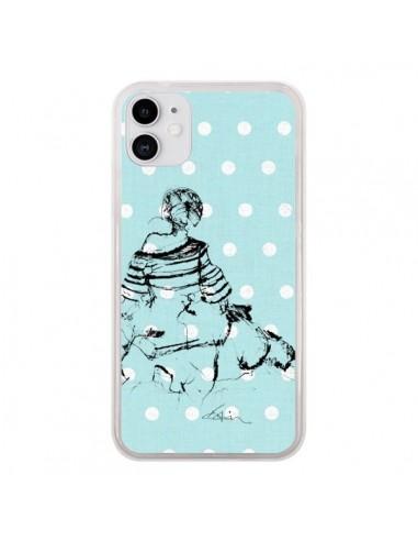 Coque iPhone 11 Croquis Pois Femme Fashion Mode - Cécile