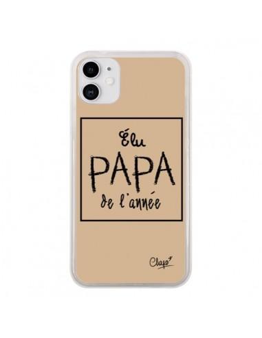 Coque iPhone 11 Elu Papa de l'Année Beige - Chapo