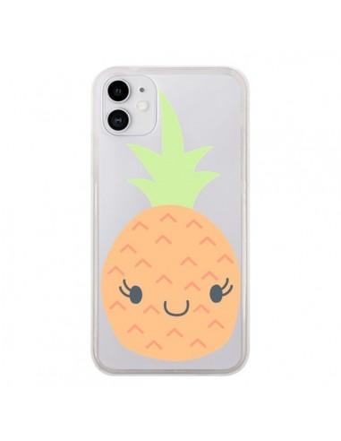 Coque iPhone 11 Ananas Pineapple Fruit Transparente - Claudia Ramos