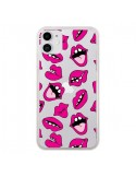 Coque iPhone 11 Lèvres Lips Bouche Kiss Transparente - Claudia Ramos