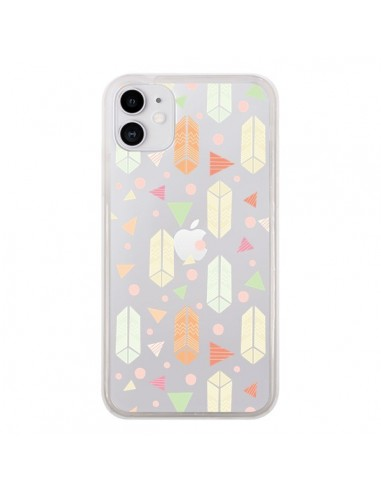Coque iPhone 11 Arrow Fleche Azteque Transparente - Claudia Ramos