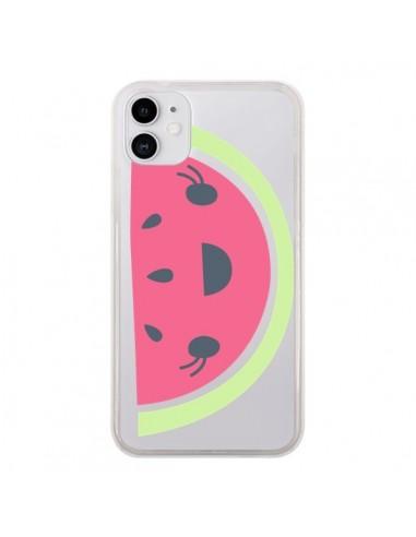 Coque iPhone 11 Pasteque Watermelon Fruit Transparente - Claudia Ramos