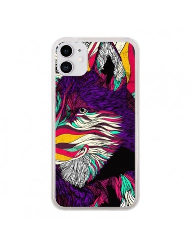 Coque iPhone 11 Color Husky Chien Loup - Danny Ivan