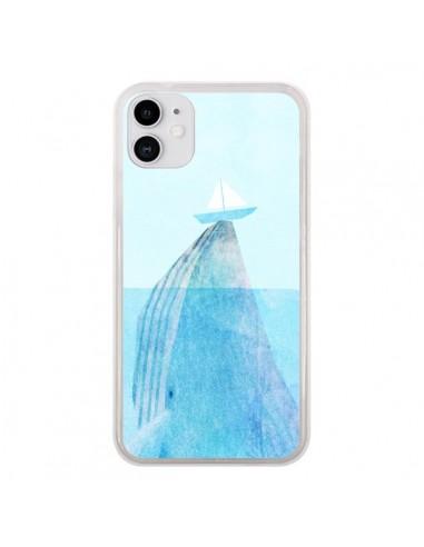 Coque iPhone 11 Baleine Whale Bateau Mer - Eric Fan