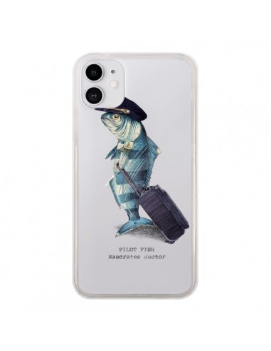 Coque iPhone 11 Pilot Fish Poisson Pilote Transparente - Eric Fan