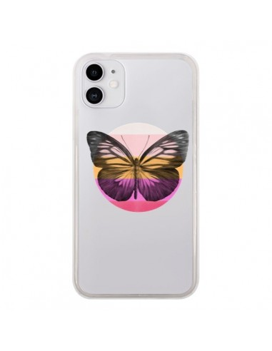 Coque iPhone 11 Papillon Butterfly Transparente - Eric Fan