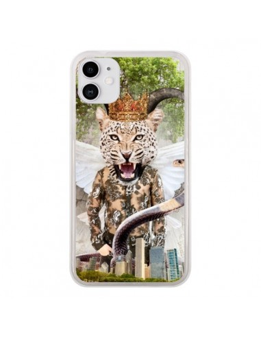 Coque iPhone 11 Hear Me Roar Leopard - Eleaxart