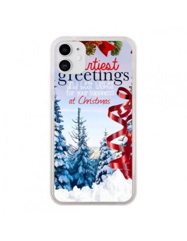 Coque iPhone 11 Voeux Joyeux Noël - Eleaxart