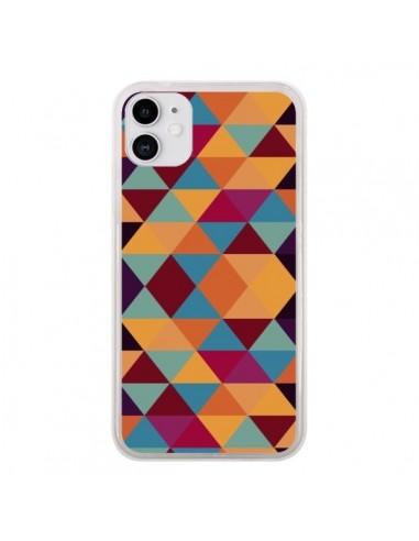 Coque iPhone 11 Azteque Triangle Orange - Eleaxart