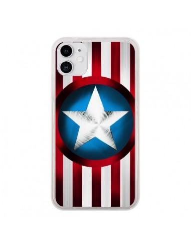 Coque iPhone 11 Captain America Great Defender - Eleaxart
