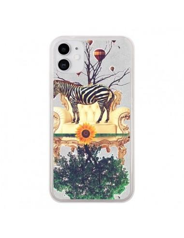 Coque iPhone 11 Zebre The World - Eleaxart