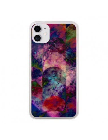 Coque iPhone 11 Abstract Galaxy Azteque - Eleaxart