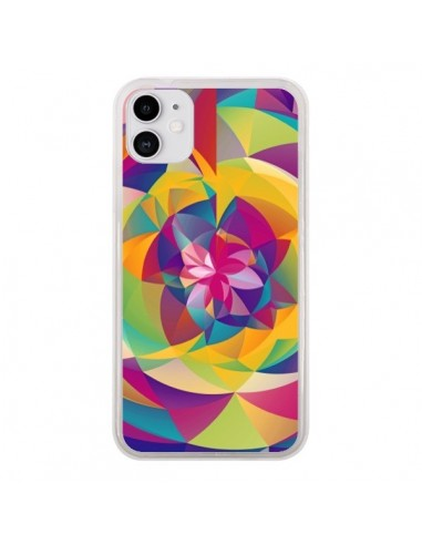 Coque iPhone 11 Acid Blossom Fleur - Eleaxart