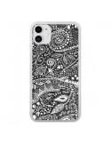 Coque iPhone 11 Azteque Noir et Blanc - Eleaxart