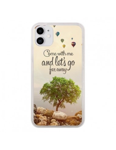 Coque iPhone 11 Let's Go Far Away Ballons - Eleaxart