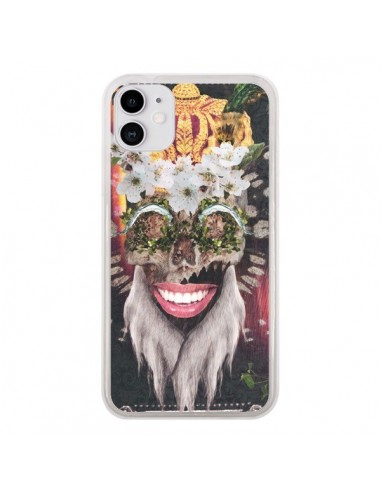 Coque iPhone 11 My Best Costume Roi King Monkey Singe Couronne - Eleaxart