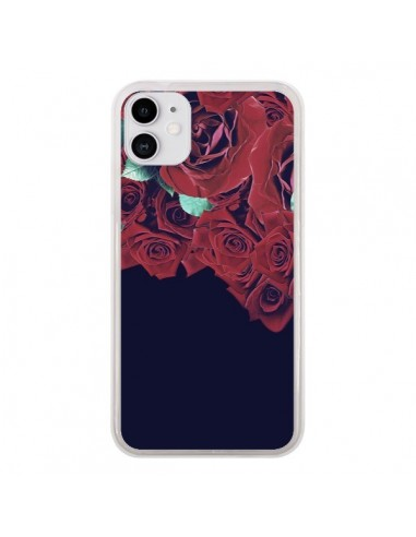 Coque iPhone 11 Roses - Eleaxart