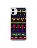 Coque iPhone 11 Triangles Pattern Azteque - Eleaxart