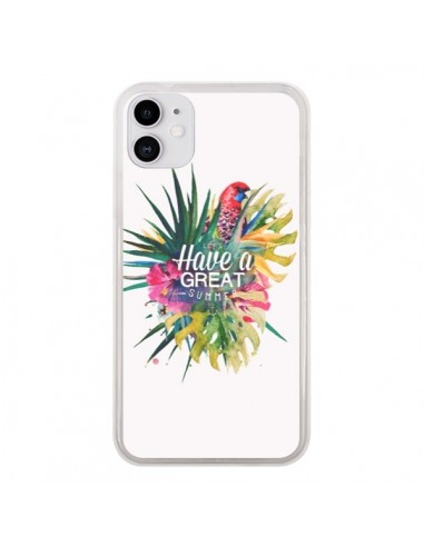 Coque iPhone 11 Have a great summer Ete Perroquet Parrot - Eleaxart