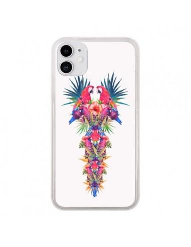 Coque iPhone 11 Parrot Kingdom Royaume Perroquet - Eleaxart