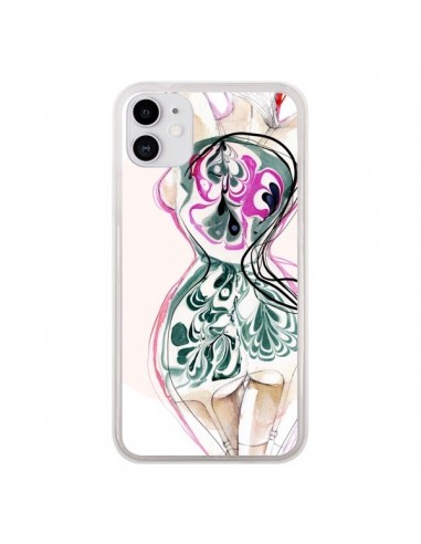Coque iPhone 11 Femme en fleurs - Elisaveta Stoilova