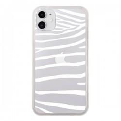 Coque iPhone 11 Zebre Zebra Blanc Transparente - Project M
