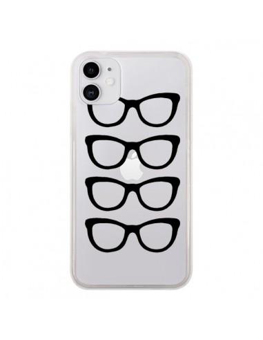 Coque iPhone 11 Sunglasses Lunettes Soleil Noir Transparente - Project M