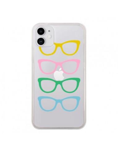 Coque iPhone 11 Sunglasses Lunettes Soleil Couleur Transparente - Project M