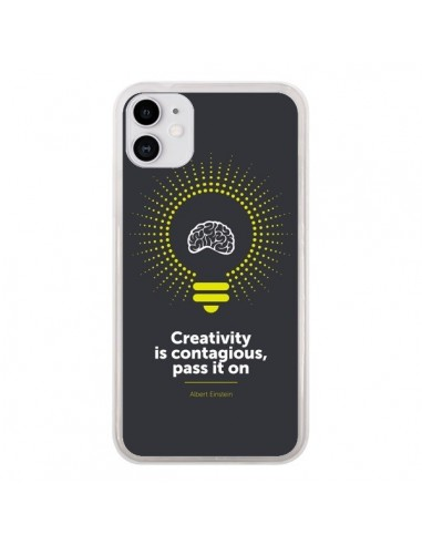Coque iPhone 11 Creativity is contagious, Einstein - Shop Gasoline