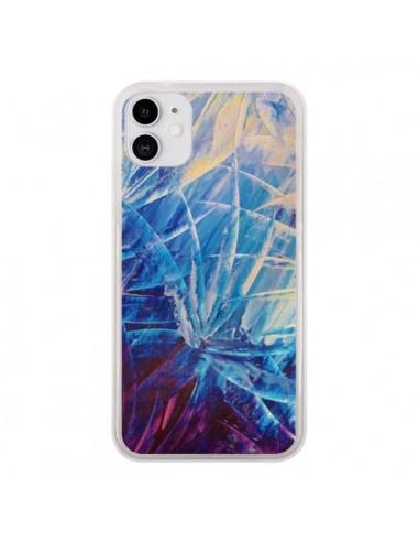 Coque iPhone 11 Fleurs Violettes françaises - Ebi Emporium