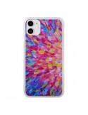 Coque iPhone 11 Fleurs Bleues Roses Splash - Ebi Emporium