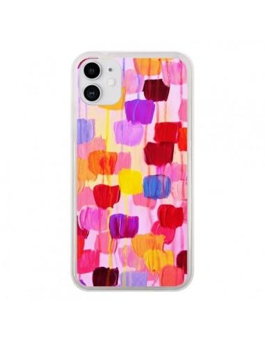 Coque iPhone 11 Pois Roses Dottie - Ebi Emporium