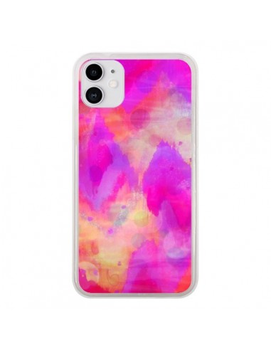 Coque iPhone 11 Coeur Tribal Rose - Ebi Emporium