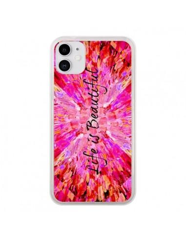 Coque iPhone 11 Life is Beautiful - Ebi Emporium
