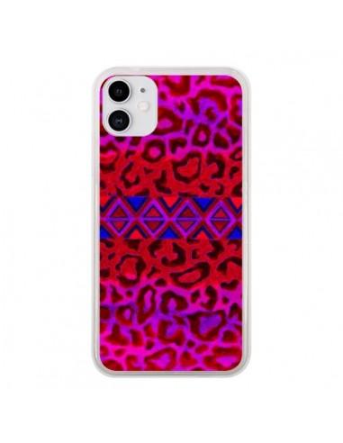 Coque iPhone 11 Tribal Leopard Rouge - Ebi Emporium