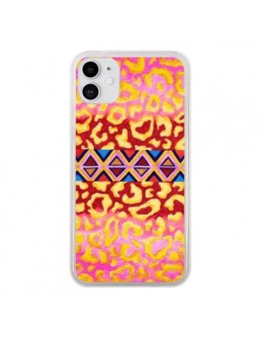 Coque iPhone 11 Tribal Leopard Rose - Ebi Emporium