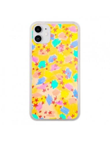 Coque iPhone 11 Stars Etoiles Jaunes - Ebi Emporium