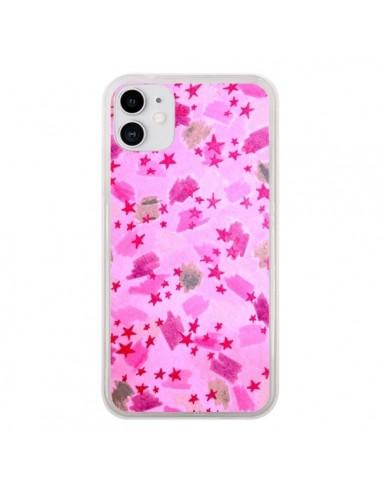 Coque iPhone 11 Stars Etoiles Roses - Ebi Emporium