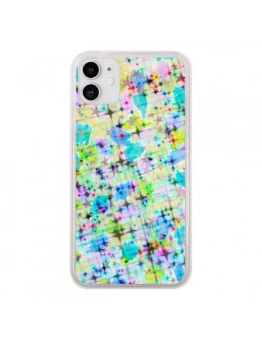 Coque iPhone 11 Stars Etoiles Bleues - Ebi Emporium