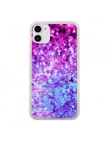 Coque iPhone 11 Radiant Orchid Galaxy Paillettes - Ebi Emporium