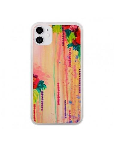 Coque iPhone 11 Strawberry Confetti Flowers - Ebi Emporium