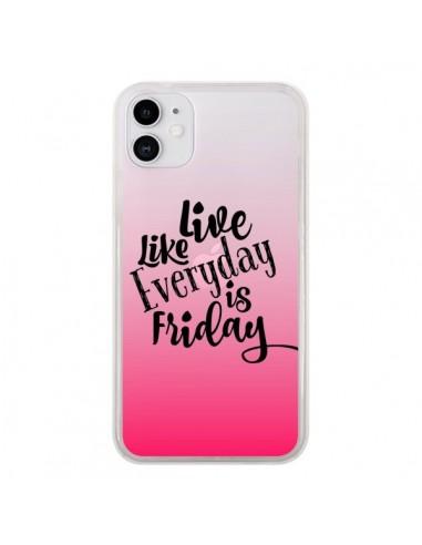 Coque iPhone 11 Everyday Friday Vendredi Live Vis Transparente - Ebi Emporium