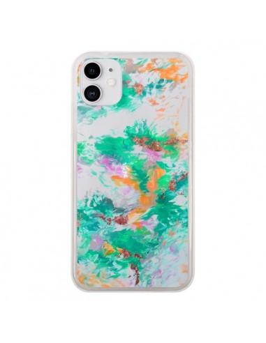 Coque iPhone 11 Mermaid Sirene Fleur Flower Transparente - Ebi Emporium