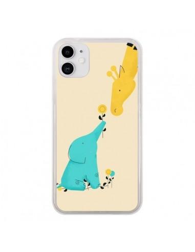 Coque iPhone 11 Elephant Bebe Girafe - Jay Fleck