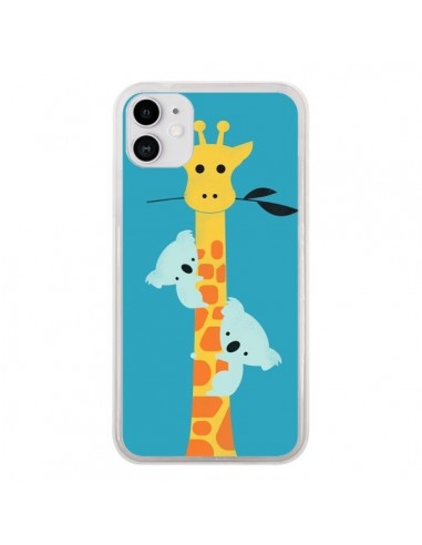 Coque iPhone 11 Koala Girafe Arbre - Jay Fleck