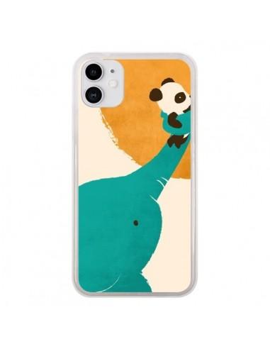 Coque iPhone 11 Elephant Help Panda - Jay Fleck