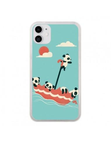 Coque iPhone 11 Parapluie Flottant Panda - Jay Fleck