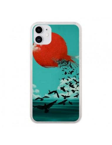 Coque iPhone 11 Soleil Oiseaux Mer - Jay Fleck